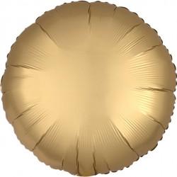 Rund Guld Satin Folie Ballon til Helium