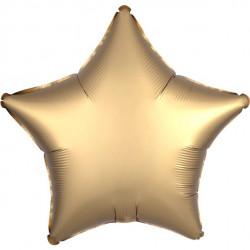 Guld Satin Stjerne Folie Ballon til Helium