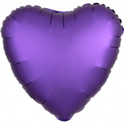 Lilla Hjerte Satin Folie Ballon til Helium