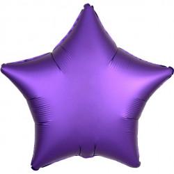 Lilla Stjerne Satin Folie Ballon til Helium