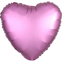 Mørk Lyserød Hjerte Satin Folie Ballon