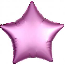 Mørk Lyserød Stjerne Satin Folie Ballon