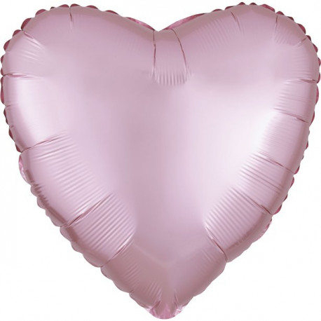 Lyserød Hjerte Satin Folie Ballon