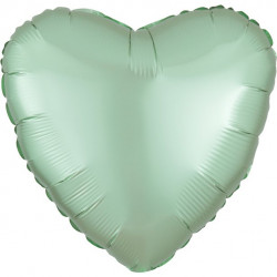 Lys Mintgrøn Hjerte Satin Folie Ballon