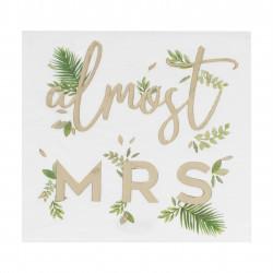 """""""Almost Mrs"""" servietter fra GingerRay"""