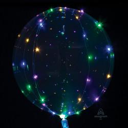Multifarvet LED lyskæde Ballon