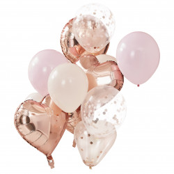 Rose gold ballon buket fra GingerRay