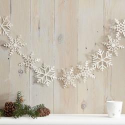 Snefnug glimmer guirlande fra GingerRay
