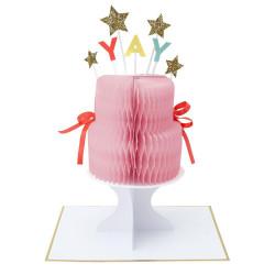 YAY Lagkage fødselsdagskort fra Meri Meri