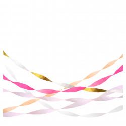 Rulle med crepe papir i guld og lyserød fra Meri Meri