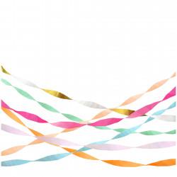Rulle med 7 crepe papir i regnbues farver fra Meri Meri