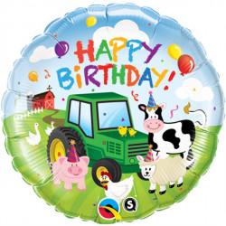 Happy Birthday Bondegård Folie Ballon