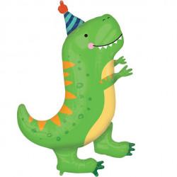 Fødselsdags T-rex SuperShape Ballon
