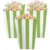 Grøn og hvid stribede popcorn bæger
