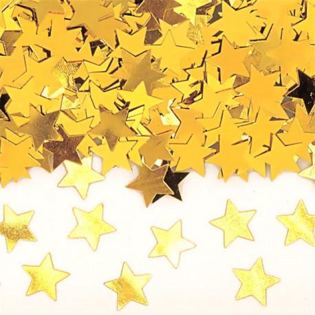 Guld Stjerne Konfetti