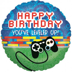 Happy Birthday - You leveled up Folie Ballon
