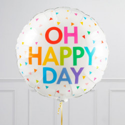 Oh happy day rund folie ballon