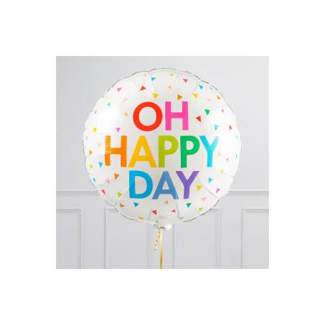 Oh happy day rund folie ballon