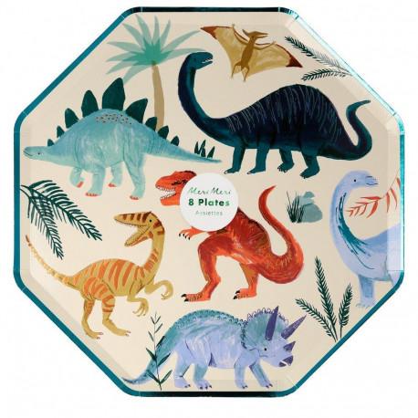 Store Dinosaur Riget Middagstallerkner fra Meri Meri