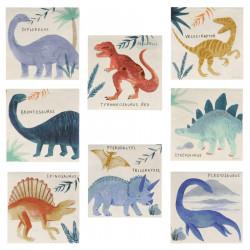 Dinosaur Riget kaffeservietter fra Meri Meri