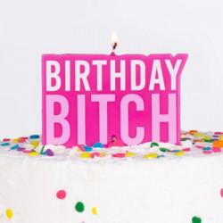 Birthday Bitch fødselsdagslys fra Gingerray