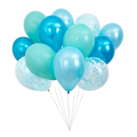 Blå balloner fra Meri Meri