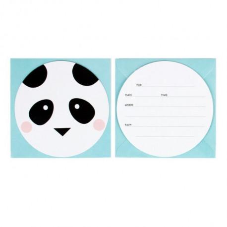 Mini Panda fødselsdagsinvitationer fra My Little Day