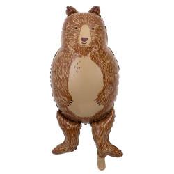 Sød brun Bjørn folieballon fra Meri Meri