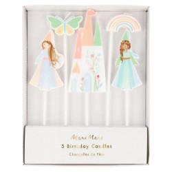 Magiske prinsesser fødselsdagslys fra Meri Meri