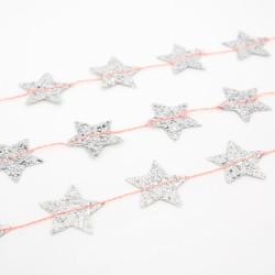 Mini Sølv Stjerne Guirlande fra Meri Meri