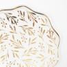 Guld blad tallerkner fra Meri Meri