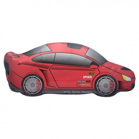 Flot rød sportsvogn ballon til bil entusiasten og drengefødselsdag