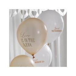 Champagne og guld Balloner til det rustikke bryllup