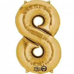 Guld 8 folie tal ballon