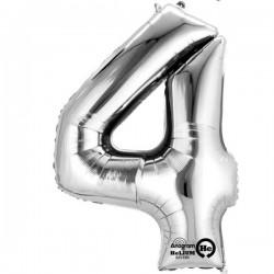 Sølv 4 bogstavsballon