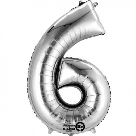 Sølv 6 bogstavsballon