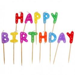 Happy Birthday Fødselsdagslys i flotte signal farver