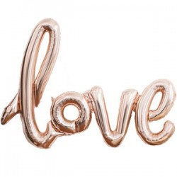 Rose gold Love Ballon