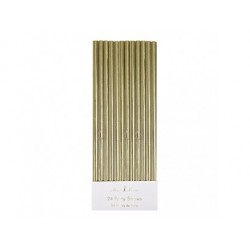 Guld papirsugerør fra Meri Meri