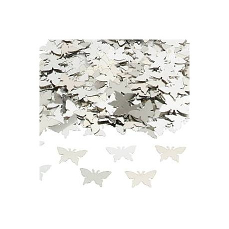 Sølv Sommerfugle konfetti