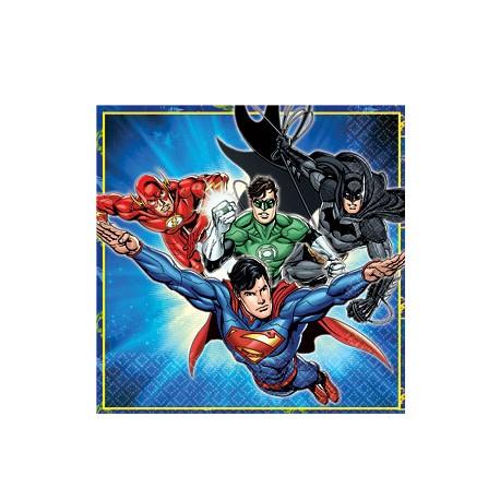 Justice League servietter til den lille superhelts fødselsdag