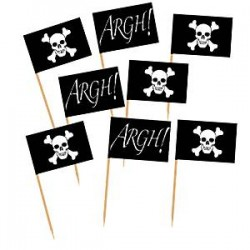 Små Sørøver kageflag til sørøver fest. Gå planken ud med stil