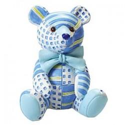 Lyseblå bjørn kage topper