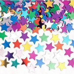 Multifarvet Stjerne Konfetti