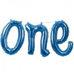 Blå One Ballon