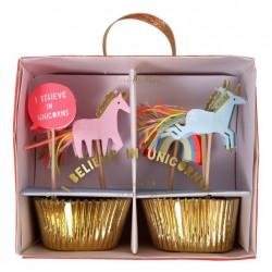 Enhjørning Cupcake sæt fra Meri Meri