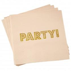 Rosa Party servietter