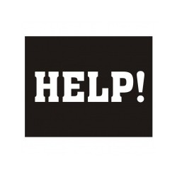 Help! klistermærke